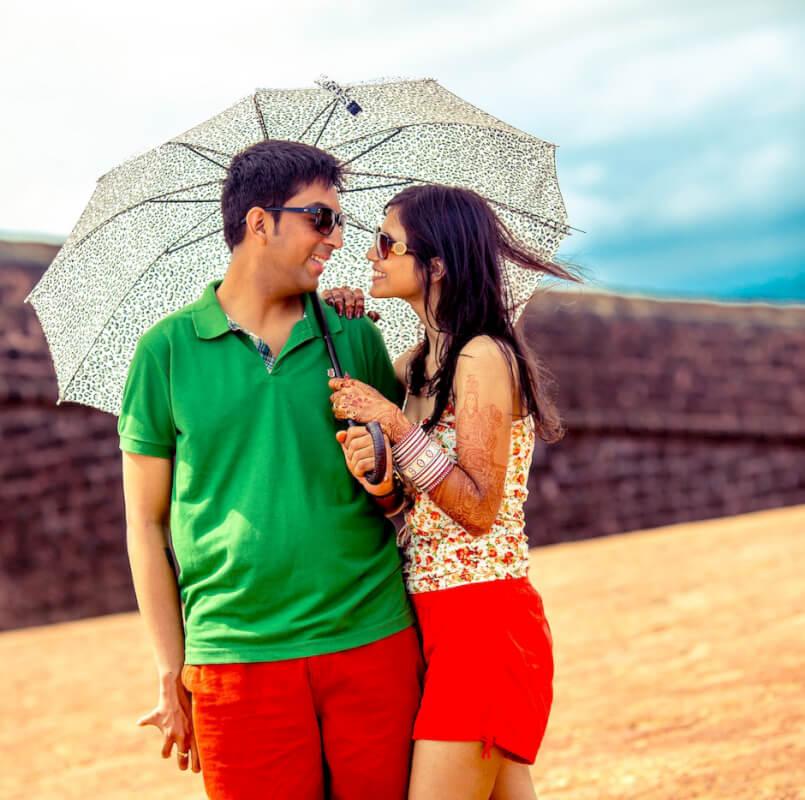 Best wedding photographer in Goa: Meghaa+Nikhil couple shoot