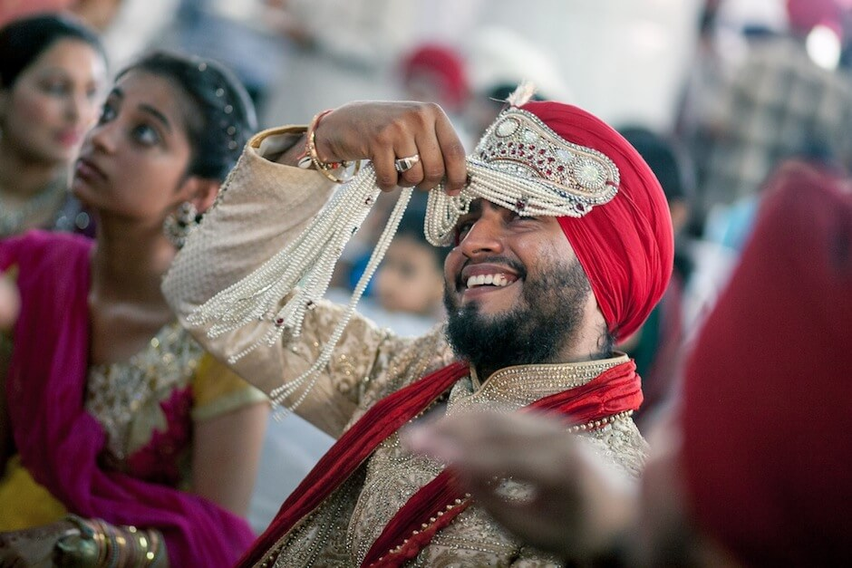 sikh wedding candid photography