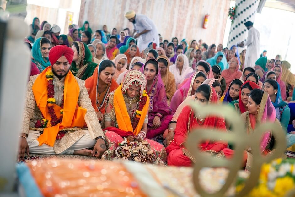 Candid sikh wedding photographers India